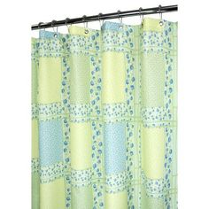 Watershed Tulip Patchwork Shower Curtain in Azure