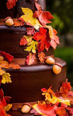 Autumn Leaf Harvest Cake - wow!
