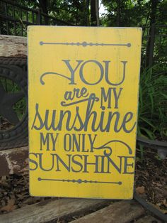 Repurposed Wood Sign, Wood sign, Vintage wood sign,Rustic Wood sign, You are my sunshine phrase on Etsy, $35.00