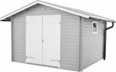 Förråd Boarp 9 Detta knuttimrade förråd levereras med färdigkapade takåsar, oisolerad dubbeldörr (145 x 176 cm), ett litet plexiglasfönster (56 x 38 cm) och 17 mm råspontgolv. Ventilationsgaller och spik/skruvsats medföljer.