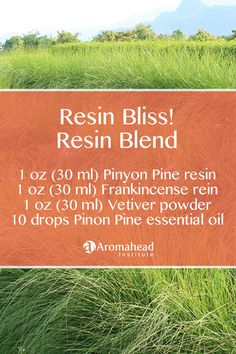 Resin bliss! I use resins all the time, and they work so well with essential oils. Here's a video that shows you how I burn resins: https://youtu.be/vJU2o1s5cbs