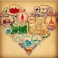 ❤️ de viajante é assim! #pqviajarnuncaédemais #viagemjovem #víciobom Passport Stamps, Heart Print, India, Amazon, Instagram, Wayfarer, Goa India, Amazons, Riding Habit
