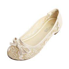 Mooie kunstleer / Flats met strik bloemenmeisje schoenen (meer kleuren) – EUR € 16.49