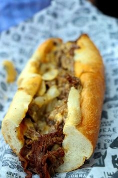 Sonny's Cheesesteak - fried onions, whiz on an Amoroso roll.