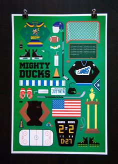 Mighty Ducks  Movie Parts Poster by EmmaButlerDesign on Etsy