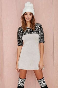 Knitz+by+For+Love+and+Lemons+Ice+Queen+Sweater+Dress+|+Shop+What's+New+at+Nasty+Gal