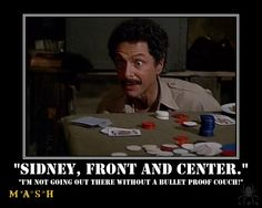 "M*A*S*H - Dr. Sidney Freedman --when Sidney passed, I went to my bar and toasted him the ""slide on the ice"" speech... : ("