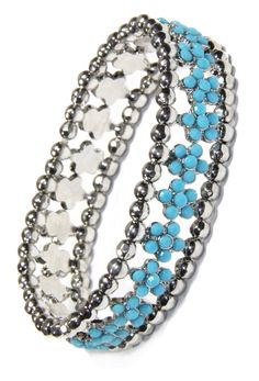 Get this beautiful Turquoise Crystal Flower and Antique Silver Bead Stretchy Bracelet and sold by 2 Lisas Boutique Arm Candy Bracelets, Crystal Flower, Silver Beads, Antique Silver, Turquoise Necklace, Crystals, Antiques, Beautiful, Jewelry