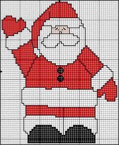 Las chorradikas de Laury: Santa Claus punto de cruz