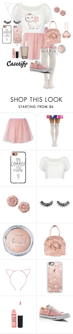 """""""Coffee Time Marie"""" by citykitty1234 ❤ liked on Polyvore featuring RED Valentino, Hot Topic, Casetify, WithChic, Briolette, Napoleon Perdis, Valentino, Paul & Joe, NYX and Converse"""