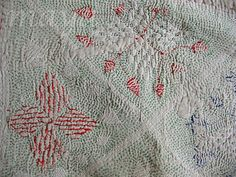 back side of Kantha stitching - this is the backside, the front is wonder-full of color