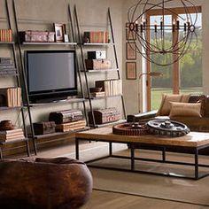 eclectic furniture Restoration Hardware Media