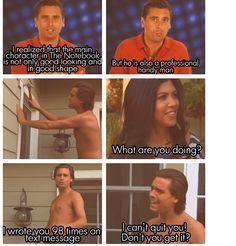 my favorite Kardashian moment to date hahaha LOVE SCOTT DISICK