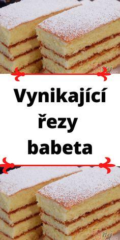 Czech Recipes, Ethnic Recipes, Vanilla Cake, Tiramisu, Food, Anna, Hampers, Essen, Meals