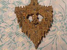 Vintage Brass and Enamel Trivet  -  Jerusalem Trivet  -  17-334 by BubbiesMemories on Etsy