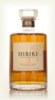 Hibiki 12 Year OldAn exquisite 12 year old blended Japanese whisky. Hibiki includes malt whisky from Yamazaki and Hakushu, as well as grain whisky from Chita. The whisky is partly matured in plum liqueur barrels.  (£42.33)