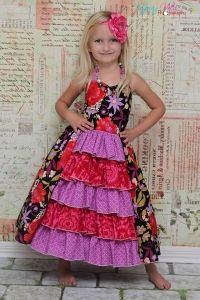 Penelope's Princess Ruffle Dress PDF Sewing Pattern bu Create Kids Couture
