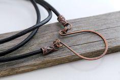 Boho Copper Eyeglass Holder Leather Lanyard eyeglass chain eyeglass holders glasses chain lanyard eyeglass necklace eyeglass loop (24.50 USD) by Maetri