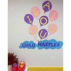 Unlu harfler Art Classroom Decor, Elementary Math, Maths, Frame, Picture Frame, Frames