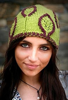 Ravelry: Embossed Leaf Hat pattern by Laura Cunitz