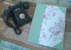 Fichário Floral Cartonagem