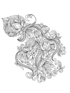 squid adult coloring pages for adults that are free to print animal adult coloring