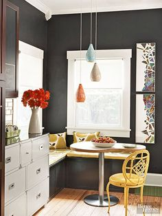 Looking for a color scheme for your kitchen remodel? We have over 20 ideas for color palettes, from light blue to neutral whites to contemporary gray. Choose what works best for colors for cabinets, tiles, islands and countertops.
