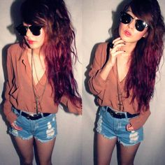 in love with hair and outfit