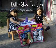Dollar Store Ideas for craft sets, organization tools, sets for American Girl dolls and more