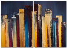 Online Galerie, Art Supplies, Bookends, Painting, Bordeaux, Home Decor, Orange, Woman, Blue Backgrounds
