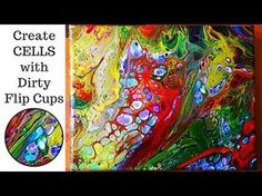 Final Frontier, Flip Cup, Pour, cells, Fluid Acrylics, Space, basics, DecoArt Colors listed below - YouTube