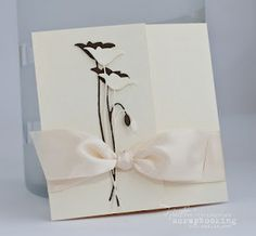 Memory Box Die Prim Poppy: cream with brown shadow