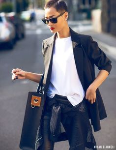 Menswear for women. One of my all time fav looks. This chick is FIERCE