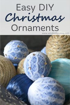 Easy and budget friendly diy Christmas ornaments you can make with craft supplies that you already have in your home. Diy Christmas Decorations, Diy Christmas Ornaments, Diy Christmas Gifts, Rustic Christmas, Diy Craft Projects, Diy Crafts, Diy For Kids, Craft Supplies, Easy Diy