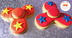 Non-spinning Fidget Spinner Cookies by Wish I Had A Cae