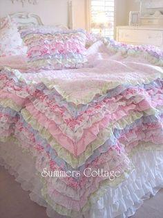 I can't believe I like this foofoo bedding but its soooo pretty!
