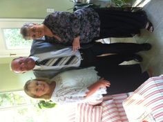 Kelly, Mom and Dad getting ready for the anniversary party. June 2012.