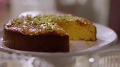 Nigella Lawson apricot and almond cake recipe on Simply Nigella