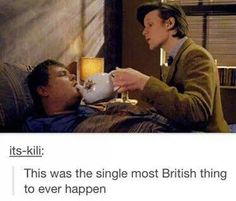 The Lodger. HAHA this was fantastic. I'd like the Doctor to take care of me when I'm sick.