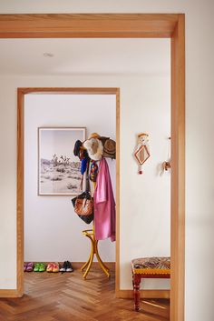eclectic and uncomplicated entryway