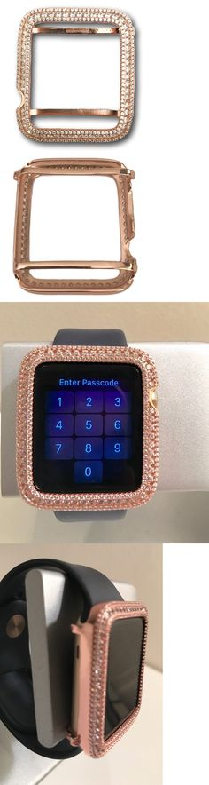 Bezels and Inserts 57714: Series 2 Bling Apple Watch Bezel Rose Gold Plated Lab Diamonds 42Mm Large Case BUY IT NOW ONLY: $165.0