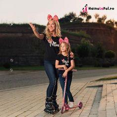Tricouri asortate mama fiica cu Minnie Me - haine la fel