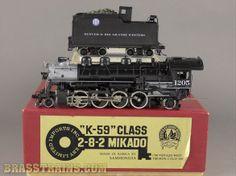 HO Key Imports D&RGW Rio Grande 2-8-2 K-59 MIkado #1205 by Hal Maynard Sold $495.00