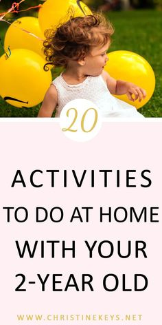 20 Activities To Do At Home With Your 2-Year Old || Use this great list of activities to help you with ideas to entertain your toddler! #toddleractivities #toddler #toddlerproducts #toddlergames