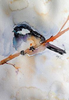 Bird Painting - Bird by Kovacs Anna Brigitta