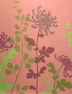 Gorgeous layered flower stencils.
