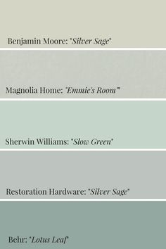 Home Interior Planning Projects. Want to make your household seem like new? Would like to enhance the appeal and sale ability of the home? It is a lot easier and less expensive than it might seem. Sage Green Bedroom, Sage Green Paint, Green Paint Colors, Living Room Green, Bedroom Paint Colors, Sage Color, Silver Sage Paint, Sage Green Walls, Color Blue