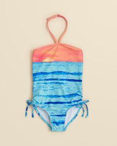a723b6dcd7 Kate Mack Girls  Sunset Beach Halter One-Piece Swimsuit - Sizes 4-6x Kids -  Girls - Girls 2-6X - Bloomingdale s