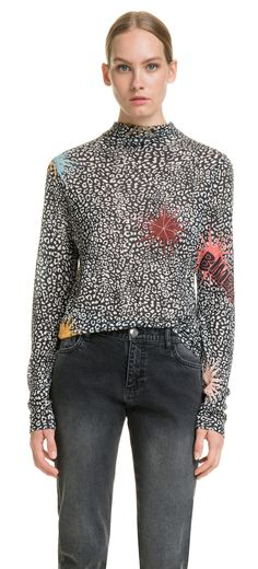 Long Leopard-Big t-shirt | BIMBA Y LOLA ®