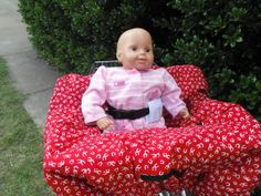 Horse shoes   baby shopping cart cover/ high by littlestitches59, $40.00